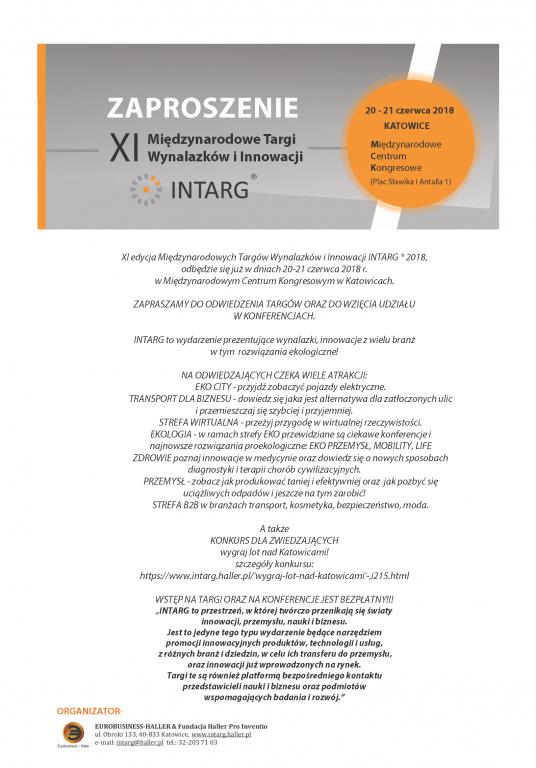 INTARG 2018 zaproszenie - odwiedzajacy