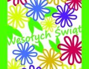 kartka kwiatki wielkanoc
